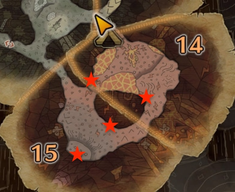 導きの地 溶岩地帯 骨塚の場所