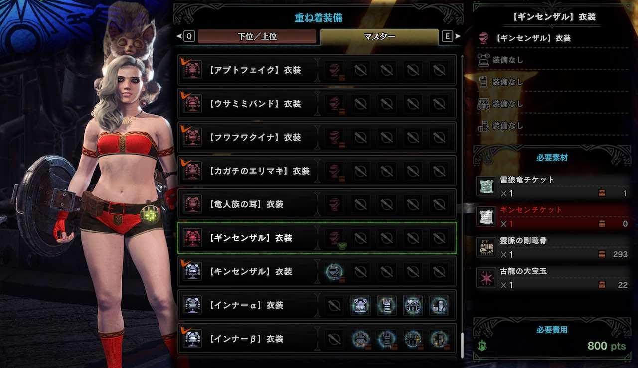 【ギンセンザル】衣装